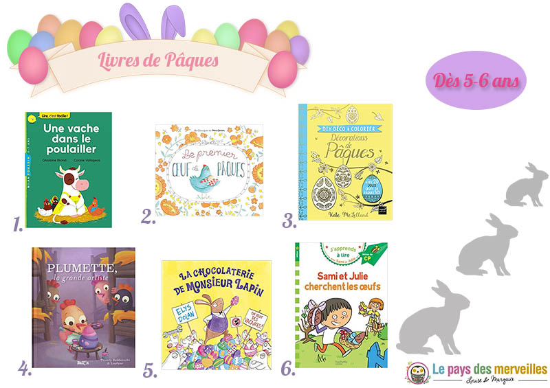 Livres de Pâques à partir de 5 et 6 ans