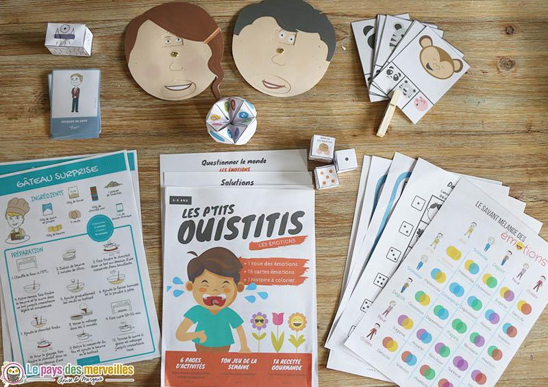 """Contenu du magazine """"Les p'tits"""" Ouistitis"""" sur les émotions"""