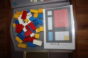 Mondrian avec des Duplo et des fiches