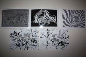 Zebre à la manière de Vasarely