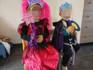 Accessoires pour déguisements crées par les enfants