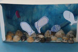 Aquarium avec une boite