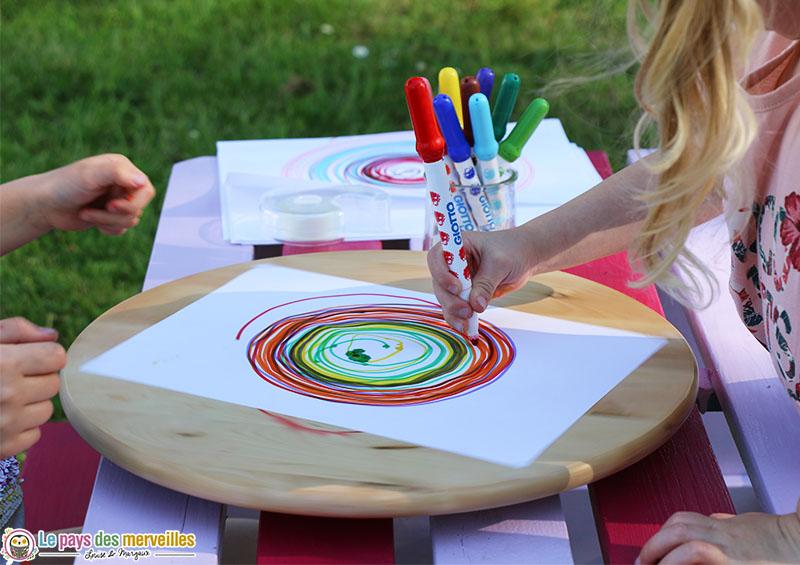 Dessin de spirales en maternelle