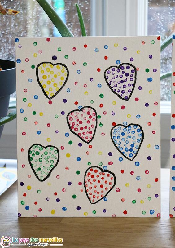 Tableau de coeurs pour la Saint-Valentin