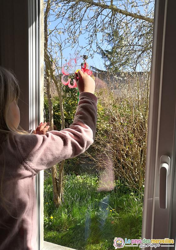 peinture pour enfant sur les fenêtres