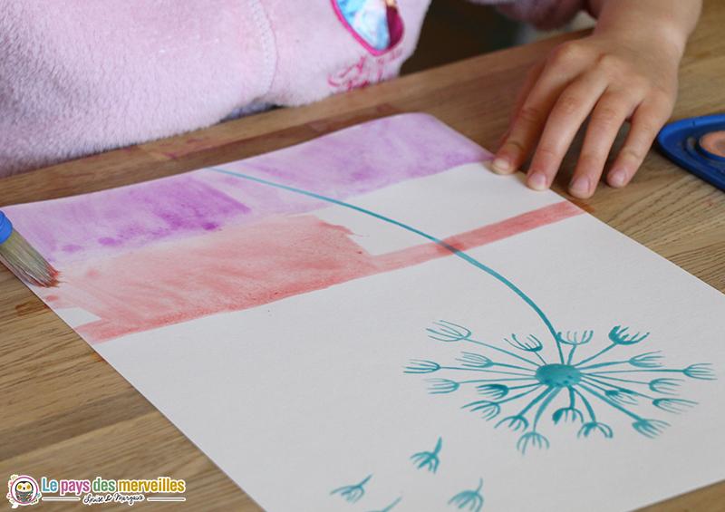 Peinture aquarelle et dessin au drawing gum