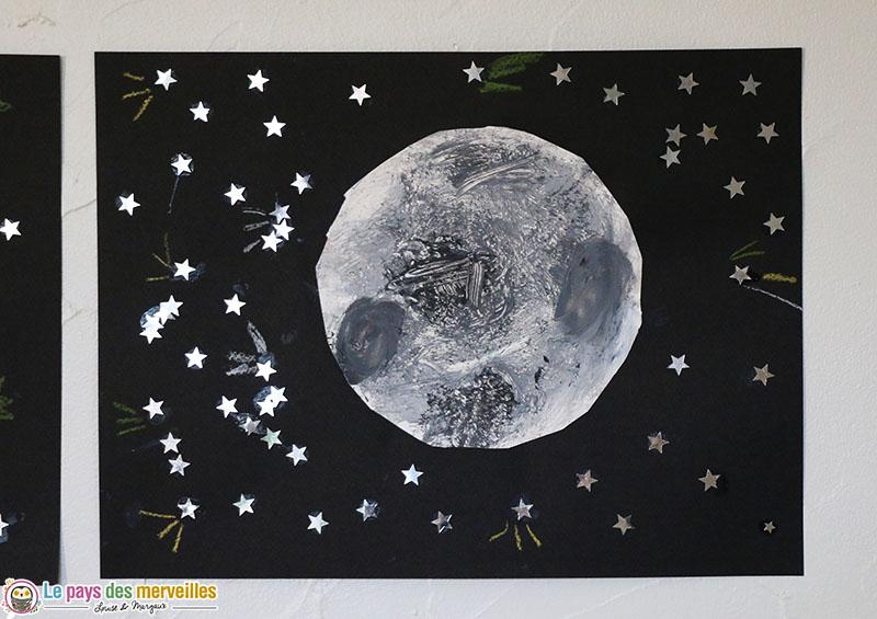 Bricolage maternelle sur le thème de la Lune
