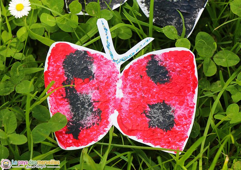 Bricolage papillon avec une éponge