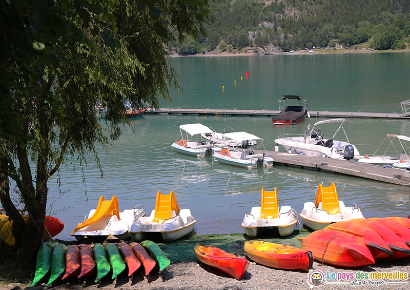 Activités nautiques au lac de Serre-Ponçon