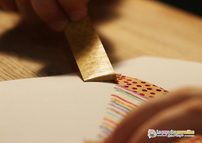 masking tape et lignes de feutres