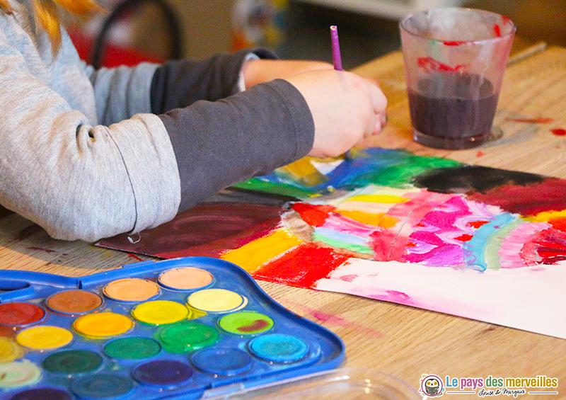 peinture à l'aquarelle sur le thème de Pâques