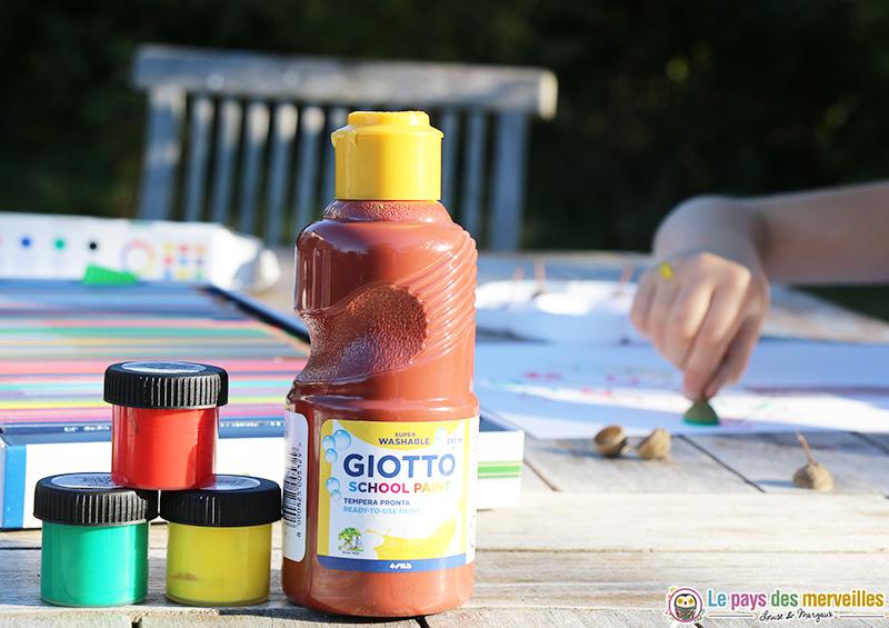 Gouache Giotto aux couleurs de l'automne