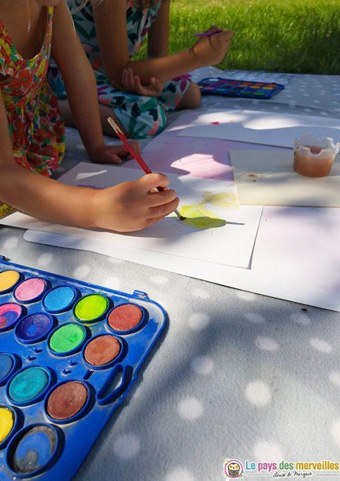 peindre des oiseaux avec une peinture aquarelle