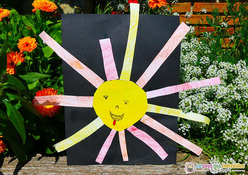 Bricolage soleil maternelle