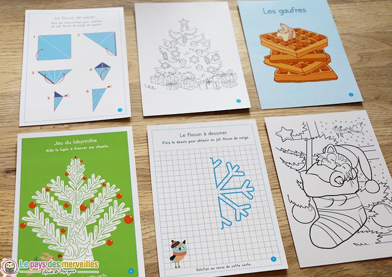Cartes jeux du calendrier Montessori