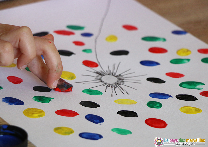 peinture empreintes de doigts