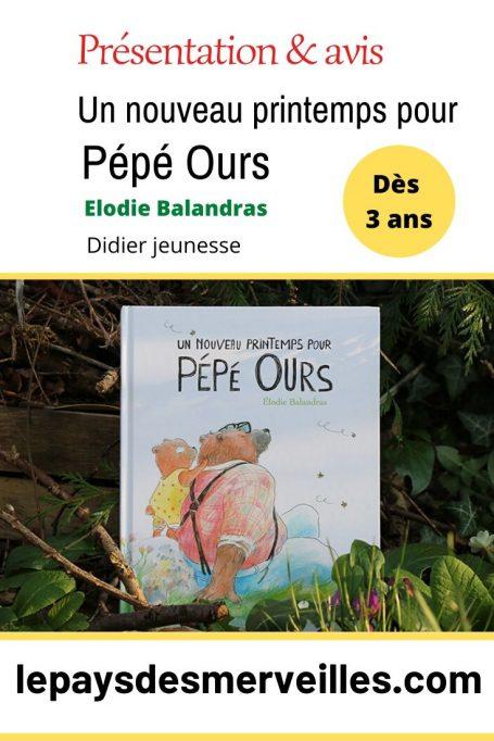 Album Un nouveau printemps pour Pépé Ours