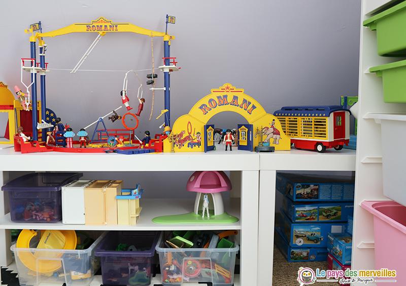 Table de rangement avec tablette pour Playmobil