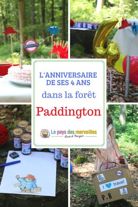 Anniversaire paddington en forêt
