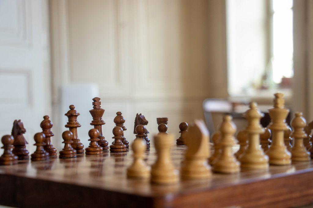 plateau échecs bois