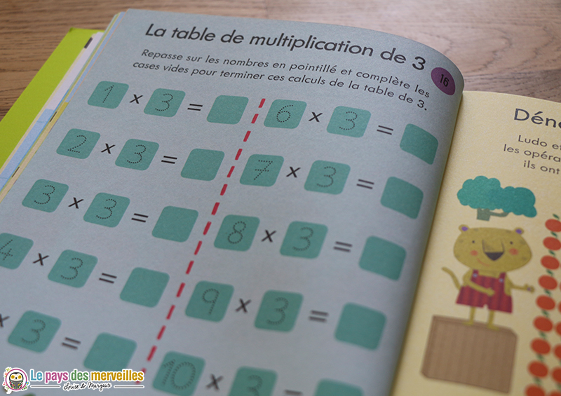 multiplications par 3
