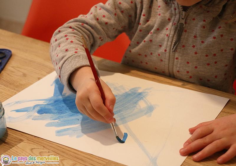 ciel d'hiver en peinture aquarelle