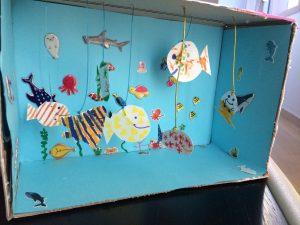 Aquarium boite en carton