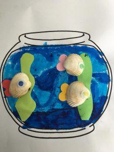 poissons avec des coquillages