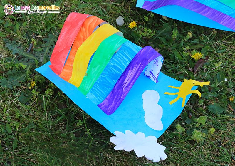 Activité peinture arc-en-ciel pour les enfants