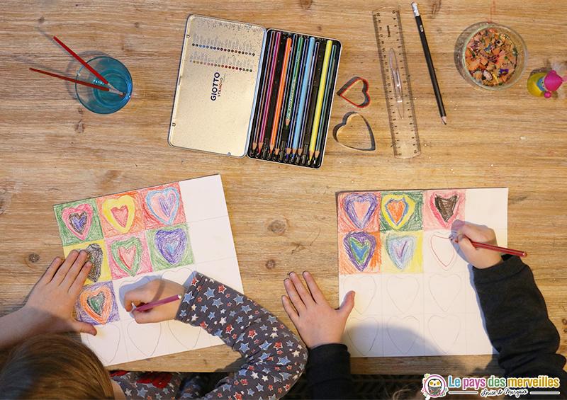 Activité dessin de coeurs pour la Saint-Valentin