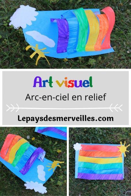 Arc-en-ciel en relief (art visuel pour les enfants)