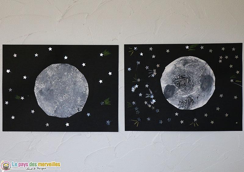 Art visuel pleine Lune