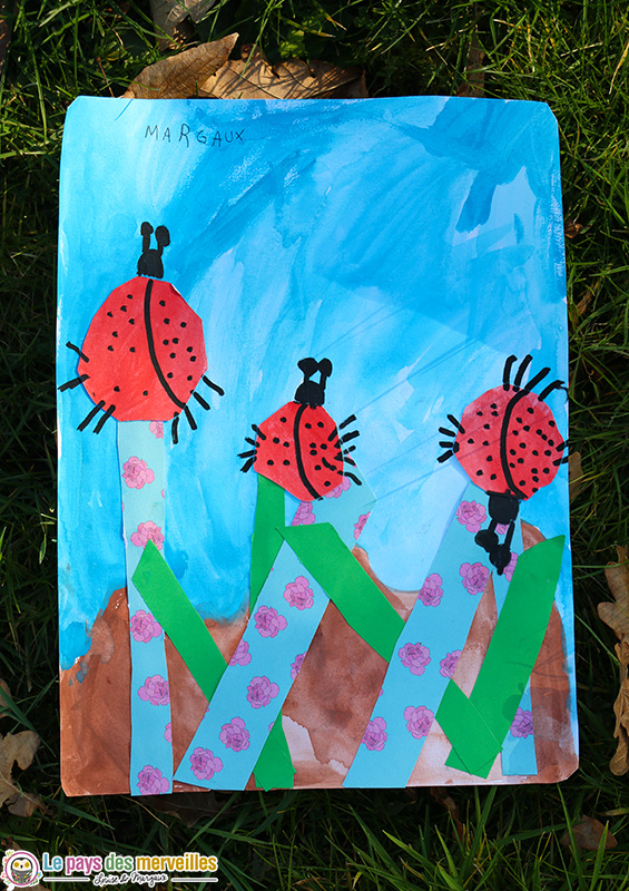 Art visuel printemps pour maternelle