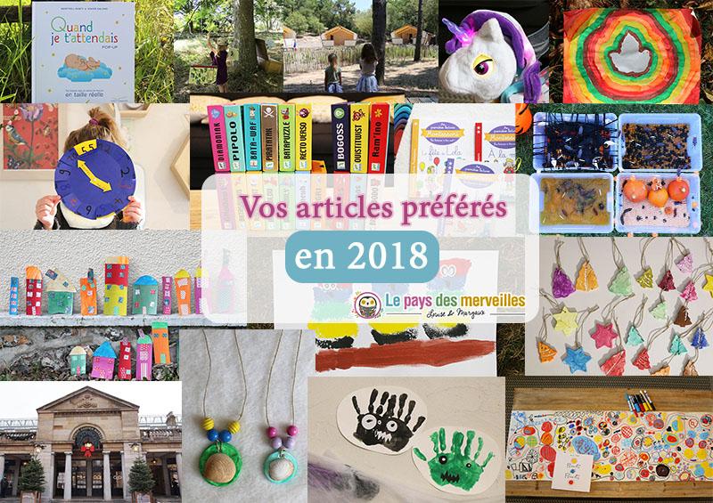 Vos articles préférés en 2018 sur le blog Le pays des merveilles
