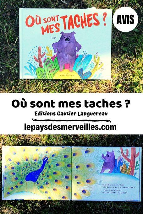 Livre Où sont mes taches aux éditions Gautier Languereau