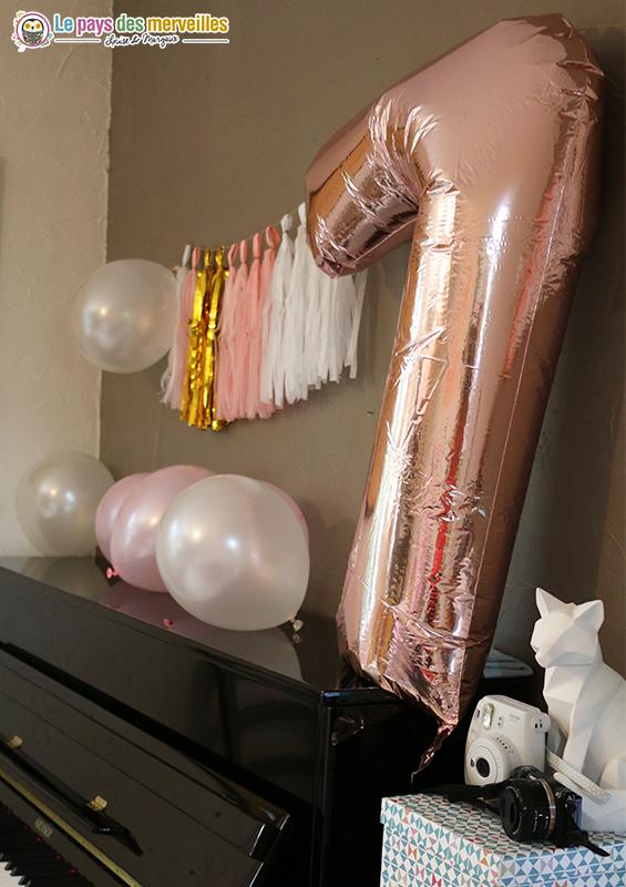 ballon géant chiffre 7