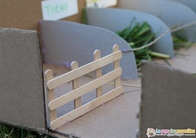 barrière avec des batonnets de bois