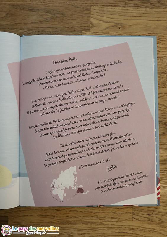 Livre enfant avec des lettres de noel