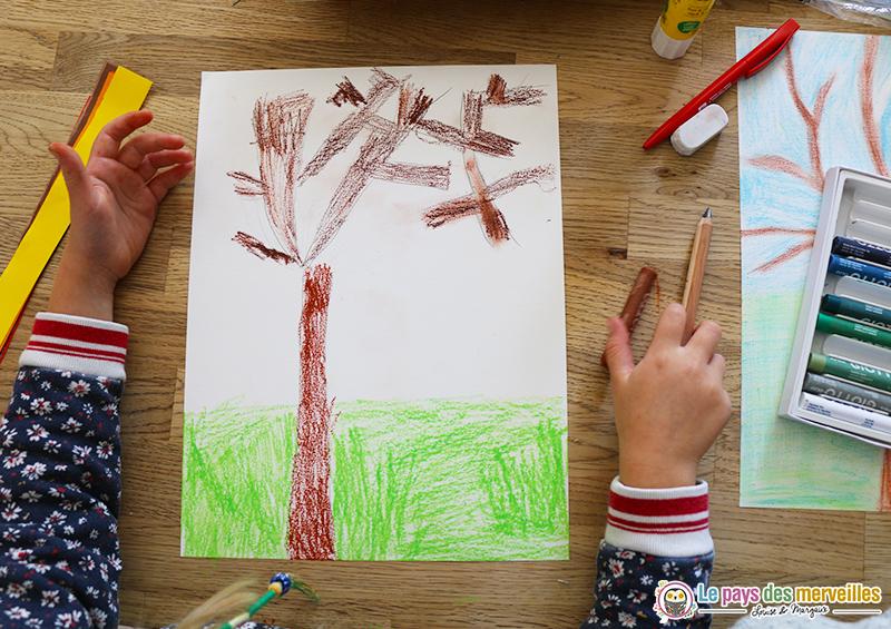 Bricolage arbre d'automne maternelle