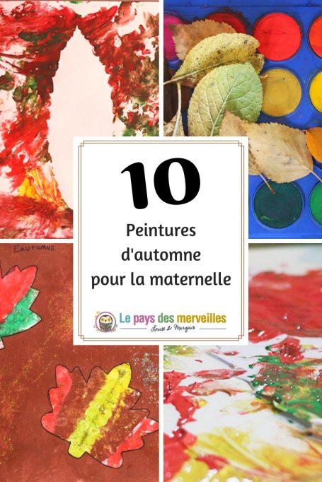 10 peinture d'automne pour la maternelle