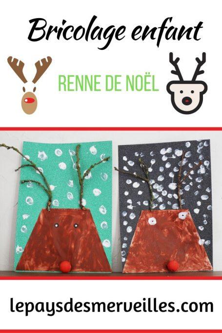 Bricolage enfant renne de Noël
