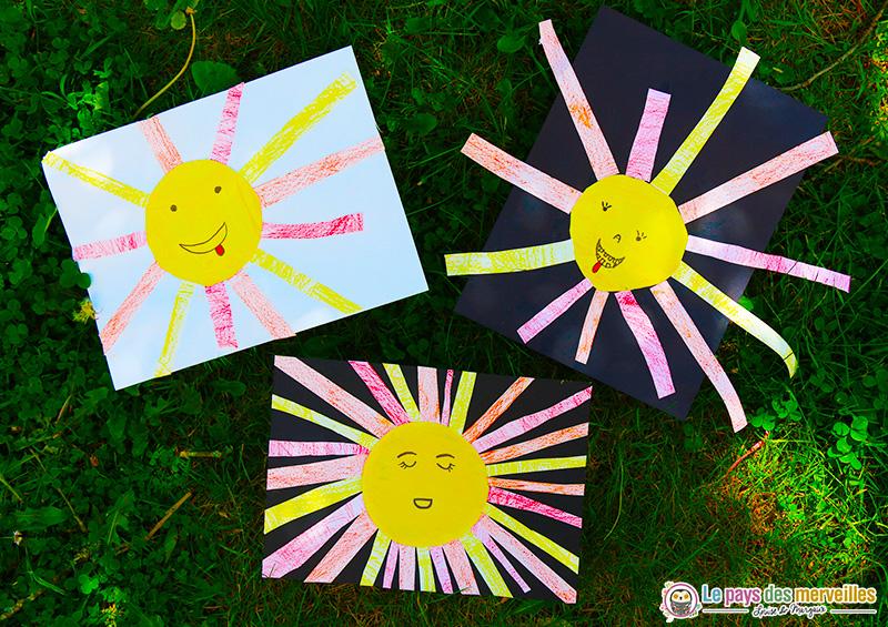 Bricolage sur le thème du soleil
