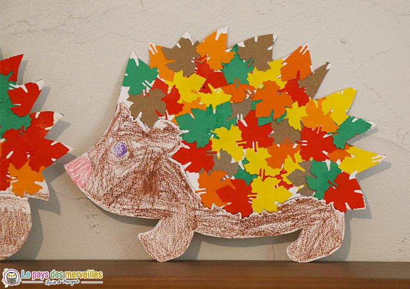 Bricolage hérisson aux couleurs de l'automne