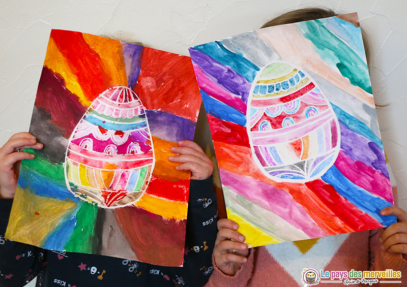 Activité oeuf de Pâques au drawing gum