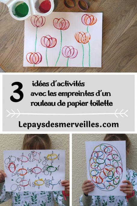 3 idées d'activités avec les empreintes d'un rouleau de papier toilette recyclé