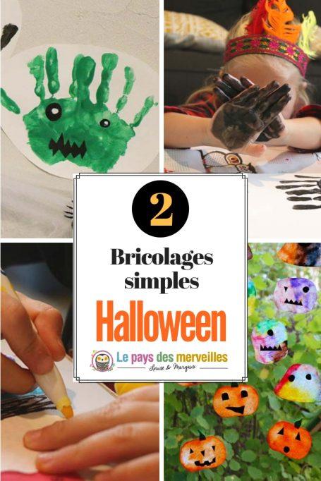 2 bricolages faciles pour Halloween