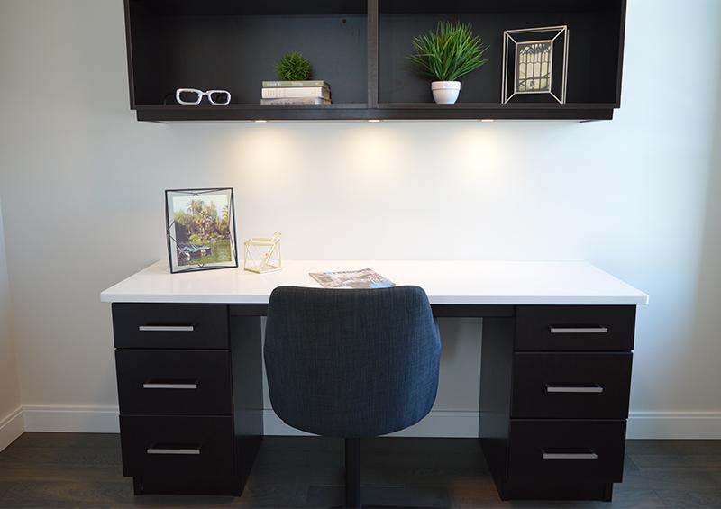 bureau et étagère noir