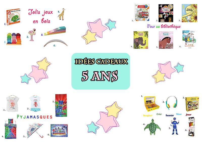 liste d'idées cadeaux pour une petite fille de 5 ans