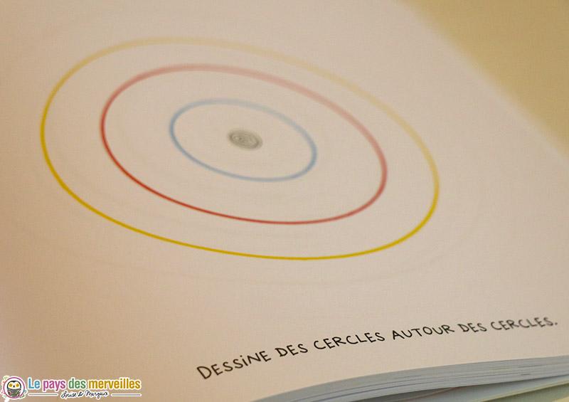 dessine des cercles autour des cercles