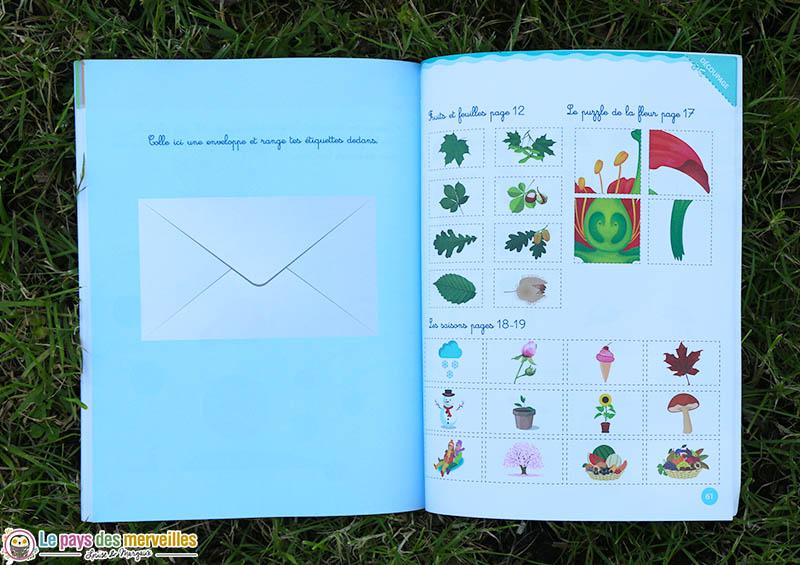 Page à découper dans le cahier Montessori Larousse